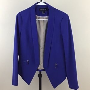 Electric Blue Asymetrical Blazer